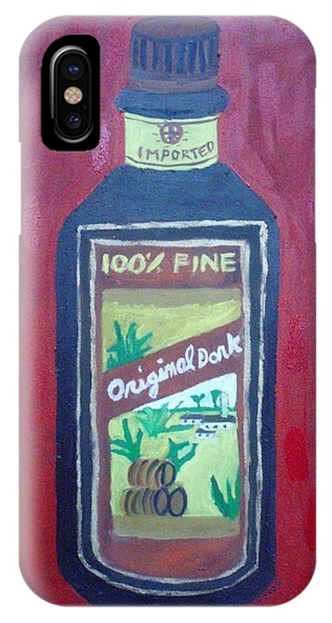 Oil On Canvas IPhone X / XS Case featuring the painting Rum by Patrice Tullai