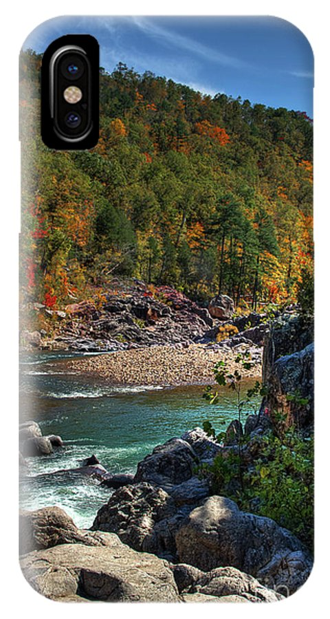 2009 IPhone X Case featuring the photograph Running Into Autumn by Larry Braun