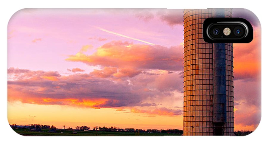 Sunrise IPhone X Case featuring the photograph Rural Boulder County Sunset by James BO Insogna