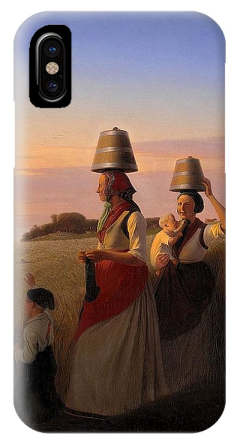 Jorgen Sonne (1801-90) - Rural Scene. (1848) IPhone X Case featuring the painting Rural Scene by MotionAge Designs