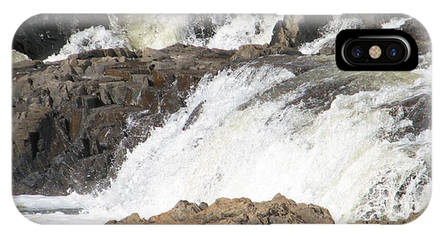Waterfall IPhone Case featuring the photograph Rushing by Kelly Mezzapelle