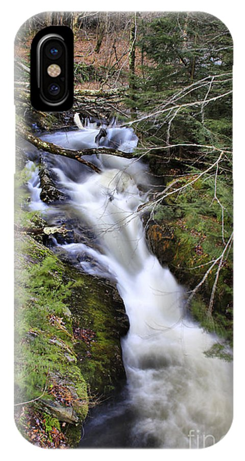 Rural IPhone X Case featuring the photograph Rushing Montgomery Brook by Deborah Benoit