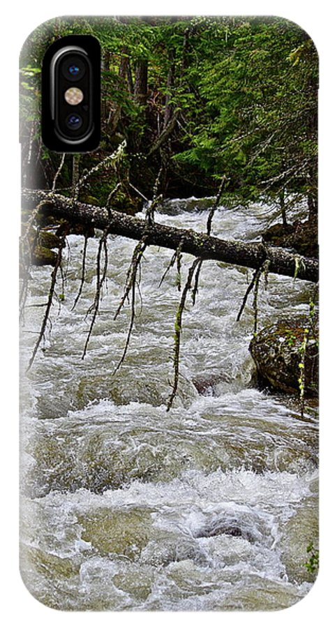 Water IPhone X Case featuring the photograph Rushing Stream by Diana Hatcher