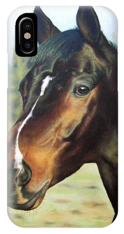 Horse IPhone Case featuring the painting Russian Horse by Nicole Zeug