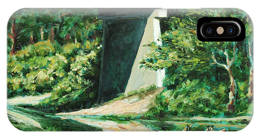 River IPhone Case featuring the painting Russian River by Rick Nederlof