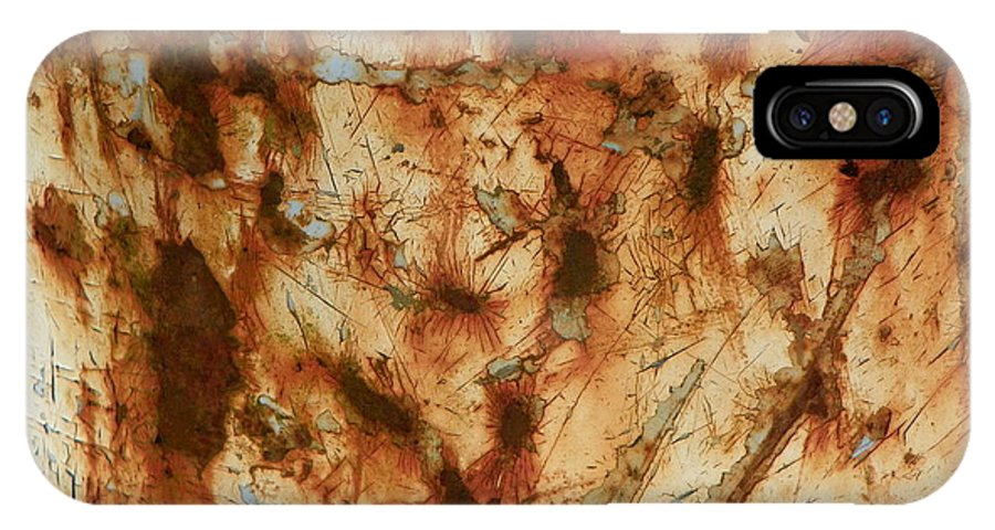 Rust IPhone X Case featuring the photograph Rust 18 by Bernie Smolnik
