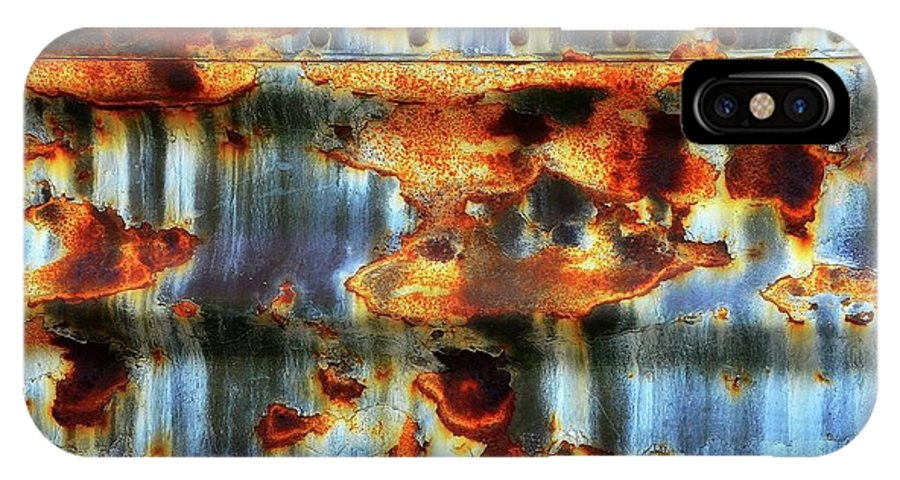 Rust IPhone X Case featuring the photograph Rust And Blue by Lauren Leigh Hunter Fine Art Photography