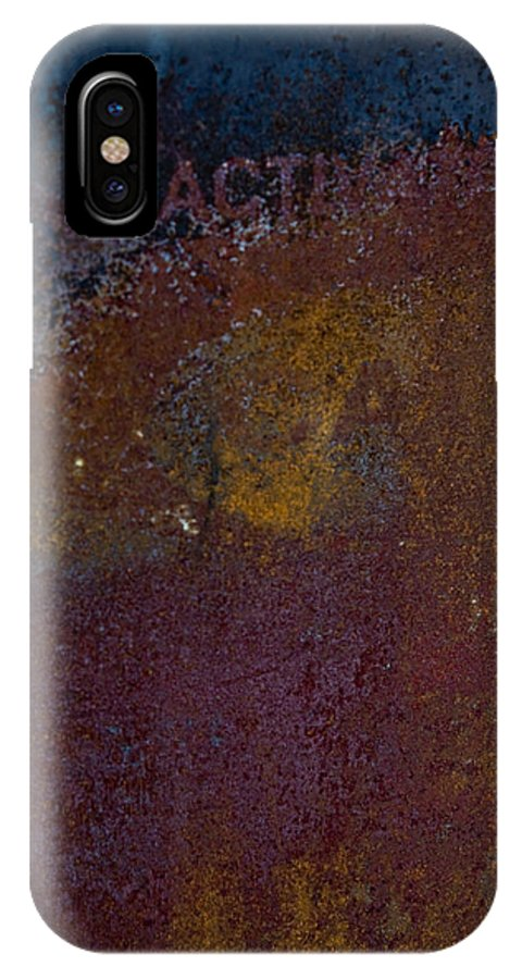 Rust IPhone X Case featuring the photograph Rusted by Hannah Breidenbach