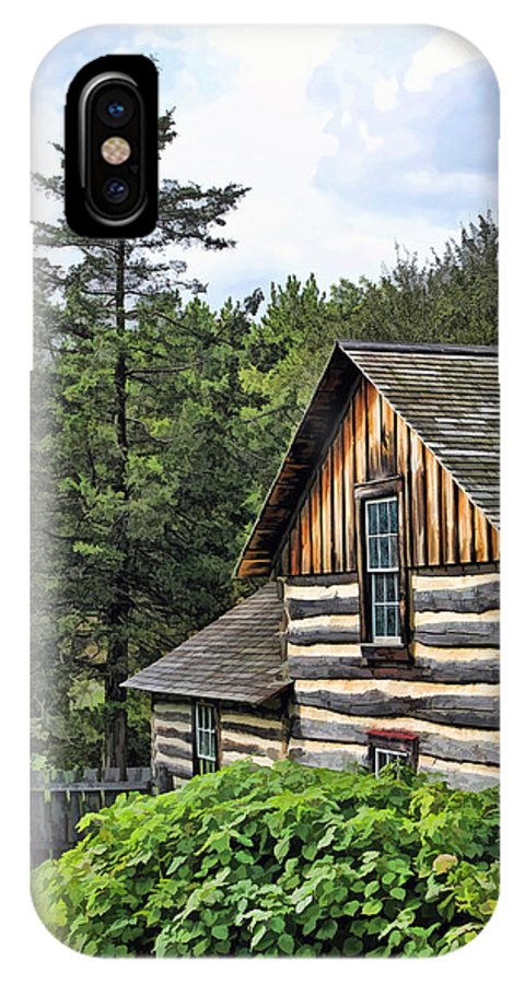 Old World Wisconsin IPhone X Case featuring the painting Rustic Farmhouse At Old World Wisconsin by Christopher Arndt