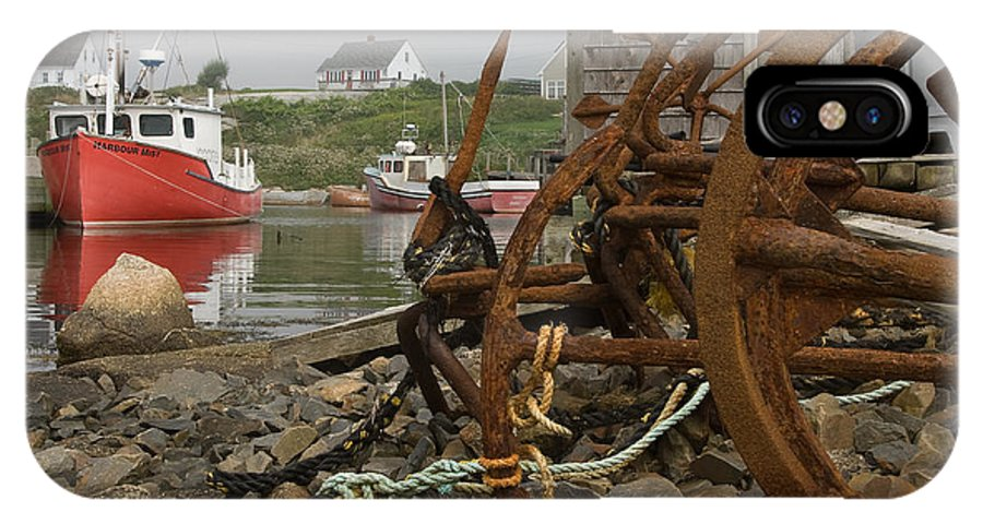 Scenic IPhone X Case featuring the photograph Rusty Anchors-2 by Steve Somerville