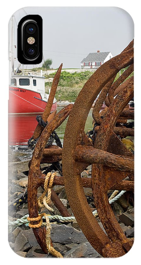 Anchors IPhone X Case featuring the photograph Rusty Anchors by Steve Somerville