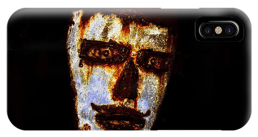 Rust IPhone X Case featuring the painting Rusty by David Lee Thompson