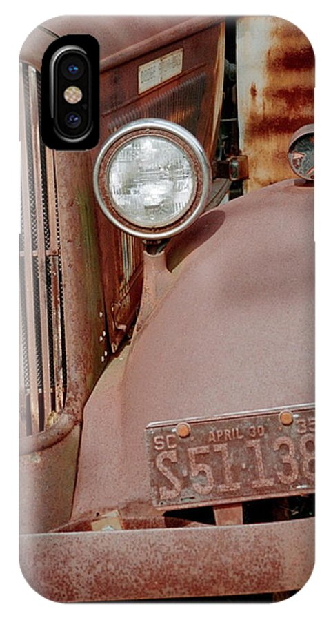 Car IPhone X Case featuring the photograph Rusty by Flavia Westerwelle