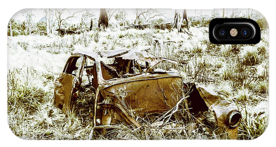 Holden IPhone X Case featuring the photograph Rusty Old Holden Car Wreck by Jorgo Photography - Wall Art Gallery