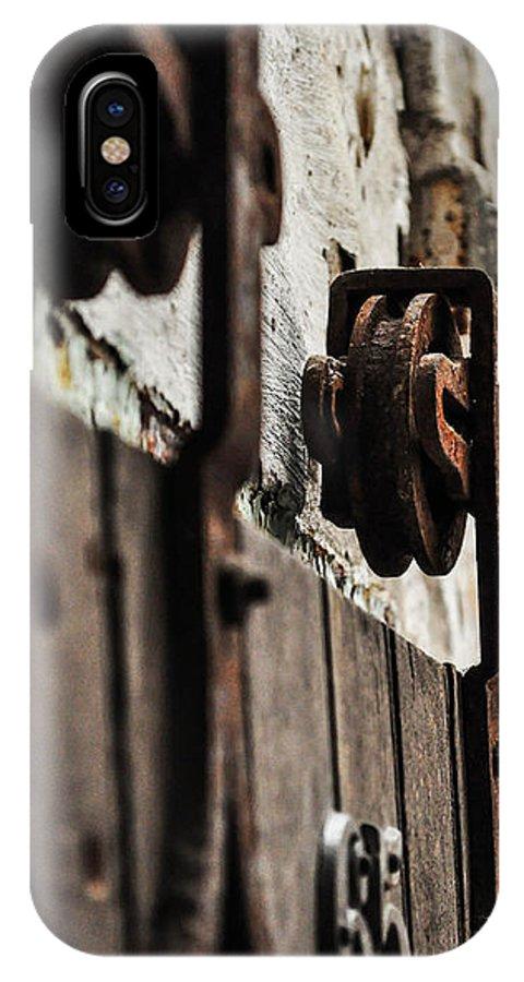 Door IPhone X Case featuring the photograph Rusty Wheel by Terepka Dariusz