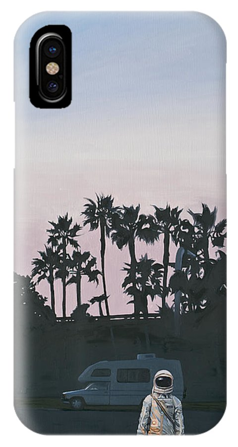 Astronaut IPhone X Case featuring the painting Rv Dusk by Scott Listfield