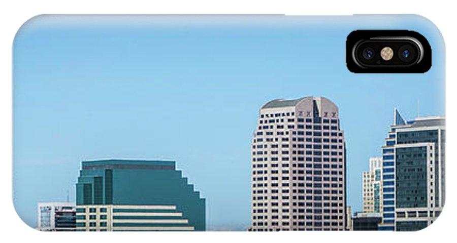 California IPhone X Case featuring the photograph Sacramento California Cityscape Skyline On Sunny Day by Alex Grichenko