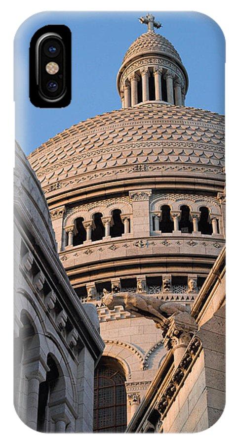 Paris IPhone X Case featuring the photograph Sacre Coeur Architecture Paris by Pierre Leclerc Photography