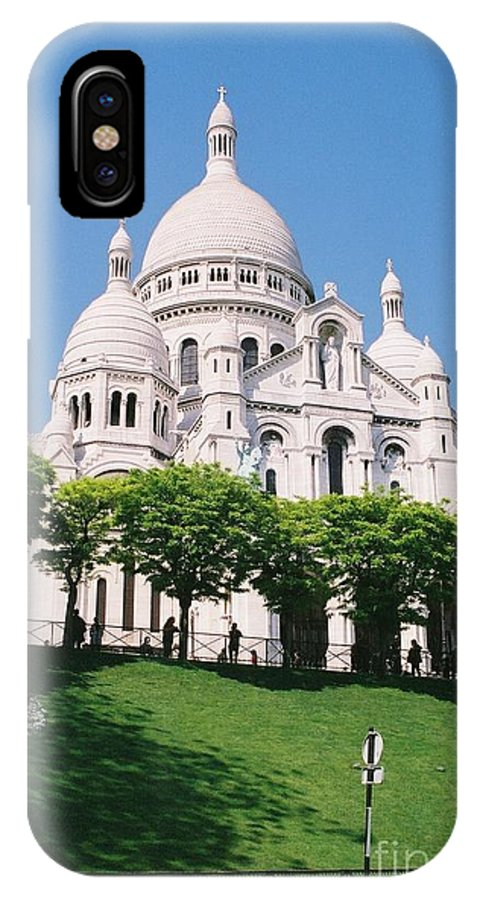 Church IPhone X Case featuring the photograph Sacre Coeur by Nadine Rippelmeyer