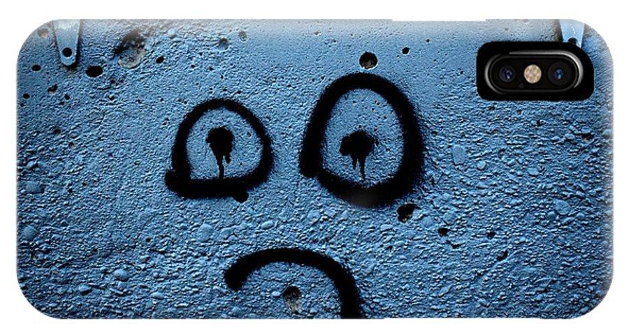 Graffiti IPhone X Case featuring the photograph Sad Graffiti by Steven MacAulay