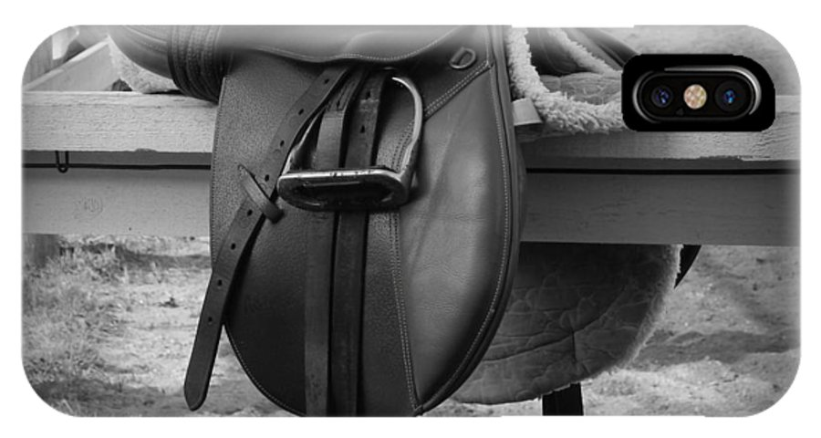 Saddle Up IPhone X Case featuring the photograph Saddle Up by Karen Cook