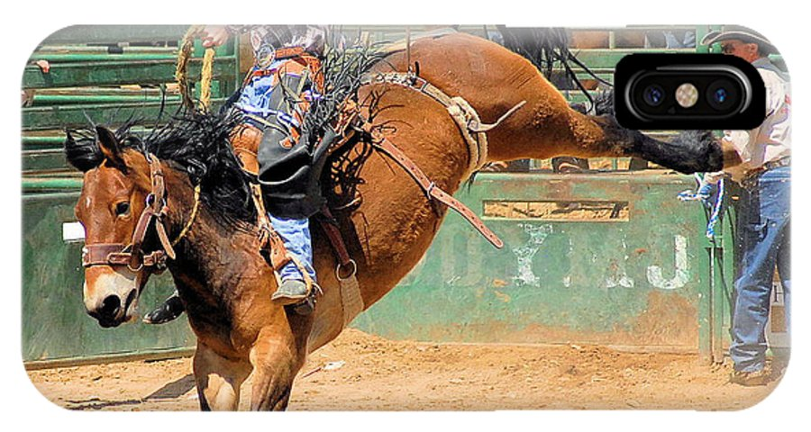 Photo IPhone X Case featuring the photograph Saddlebronc 101 by Cheryl Poland