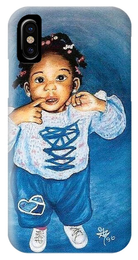 Child IPhone Case featuring the pastel Sadie by Gale Cochran-Smith