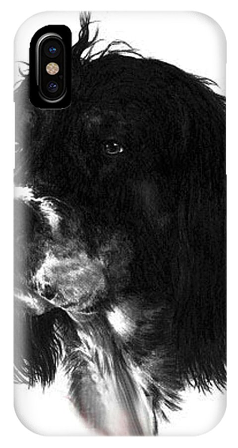 Portrait IPhone X Case featuring the drawing Sadie by Rachel Christine Nowicki