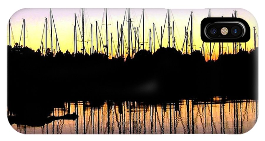 Sailboats IPhone X Case featuring the photograph Safe Haven by Will Borden