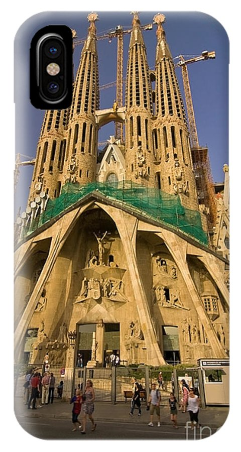 Sagrada Famila IPhone Case featuring the photograph Sagrada Famila In The Fading Sun. by Sven Brogren