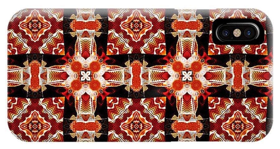 Kaleidoscope IPhone Case featuring the digital art Sahara by Charmaine Zoe