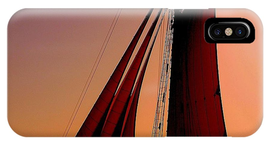Sailing IPhone X Case featuring the photograph Sail At Sunset by Susanne Van Hulst