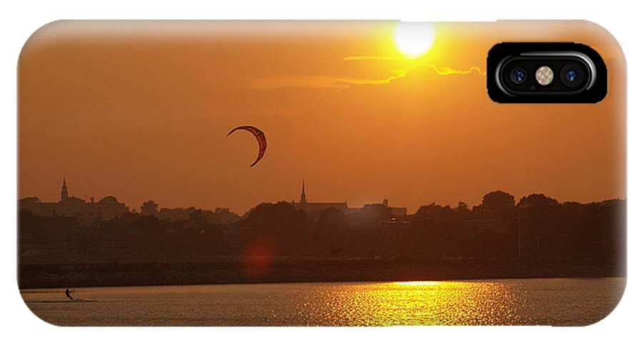 Boston IPhone X Case featuring the photograph Sail In The Sunset by Paul Galante