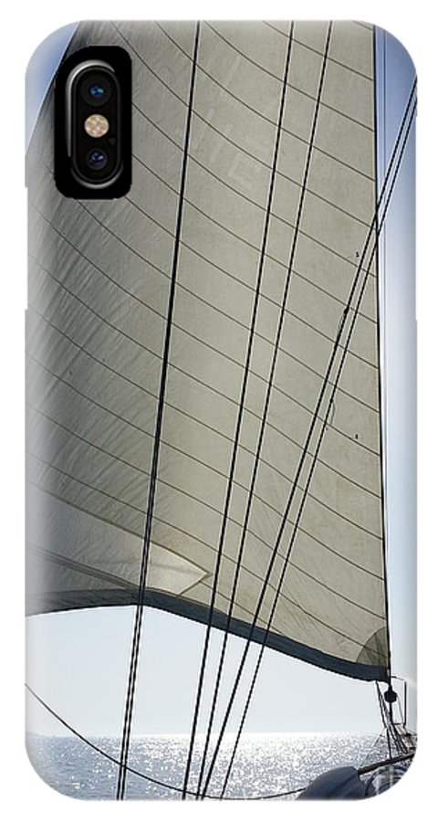Dubai IPhone X Case featuring the photograph Sail In The Wind. by Ben Kamble