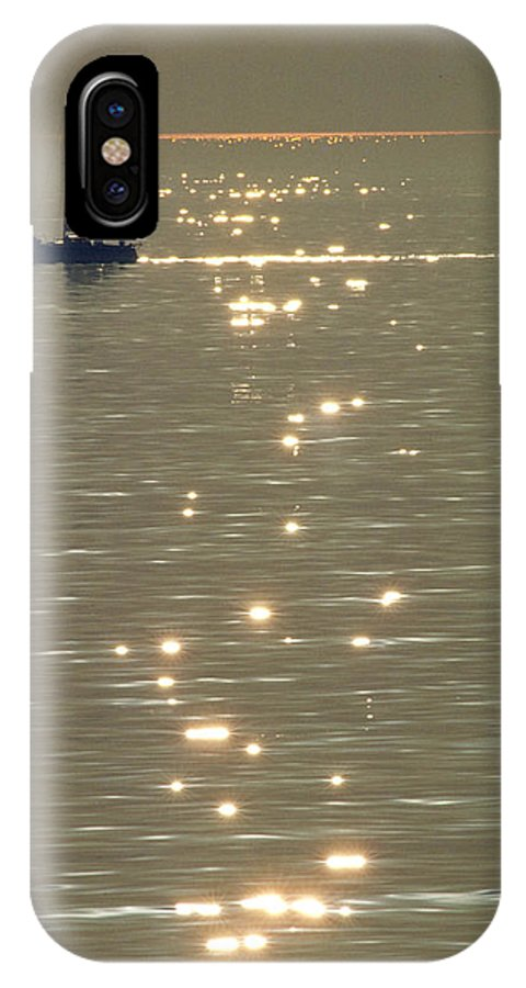 Calm IPhone X Case featuring the photograph Sailboat At Catalina by Carl Purcell
