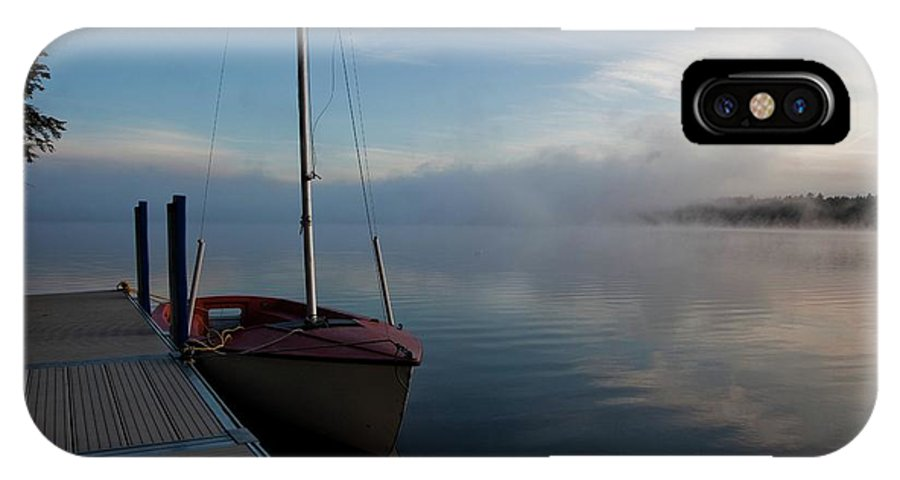 Maine IPhone X Case featuring the photograph Sailboat At Rest by Linda Cullivan