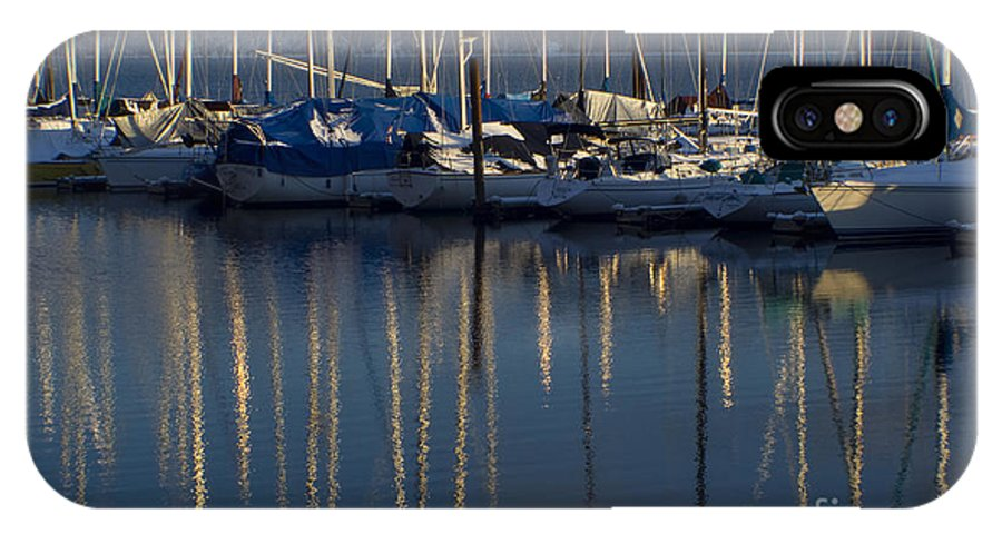 Mast IPhone X Case featuring the photograph Sailboat Reflections by Idaho Scenic Images Linda Lantzy