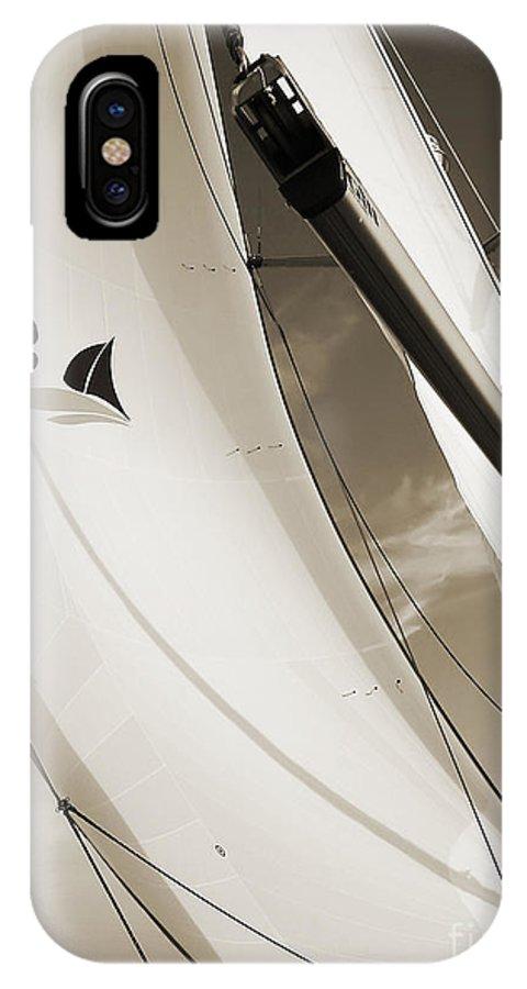 Sailboat Spinnaker Fate Beneteau 49 Charelston Sc IPhone X Case featuring the photograph Sailboat Sails And Spinnaker Fate Beneteau 49 Charelston Sc by Dustin K Ryan