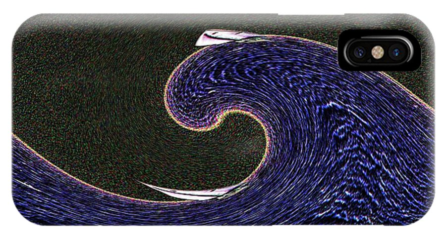 Sail IPhone X Case featuring the digital art Sailin The Wave by Tim Allen