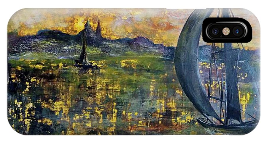 IPhone X Case featuring the painting Sailing Away by Anthony Camilleri