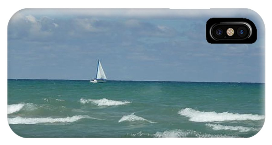 Scenery IPhone X Case featuring the photograph Sailing Away On The Lake by Barb Montanye Meseroll
