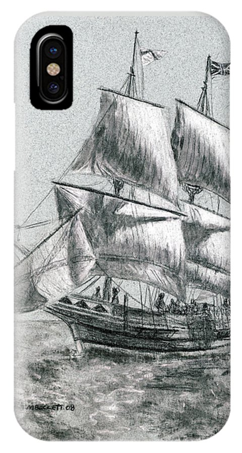 Seascape IPhone Case featuring the drawing Sailing by Michael Beckett