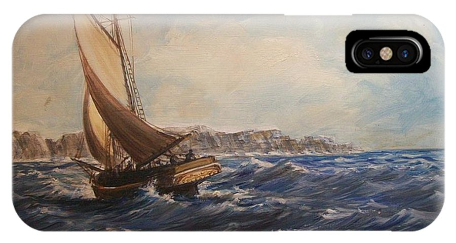 Seascape IPhone Case featuring the painting Sailing On Narragansett Bay by Perrys Fine Art