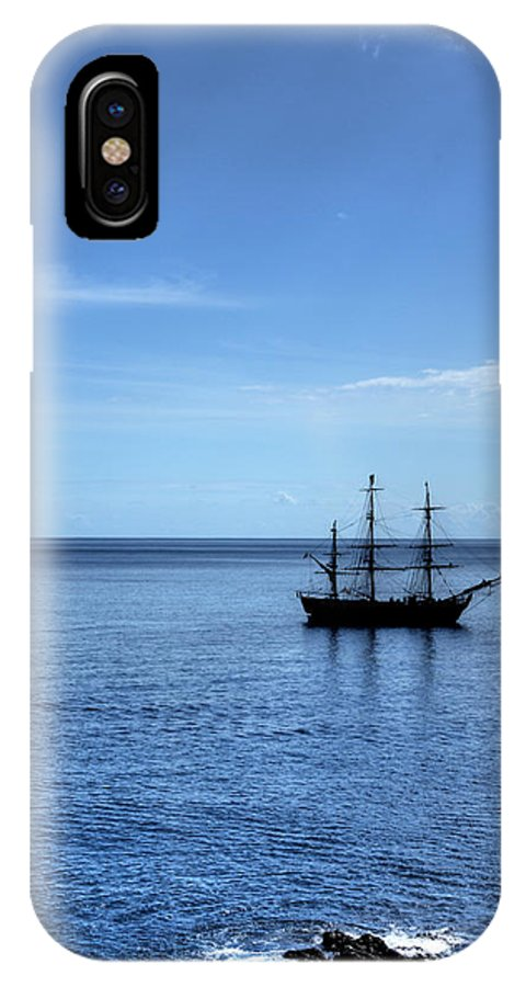 Ship IPhone X / XS Case featuring the photograph Sailing Ship by Alan Pickersgill