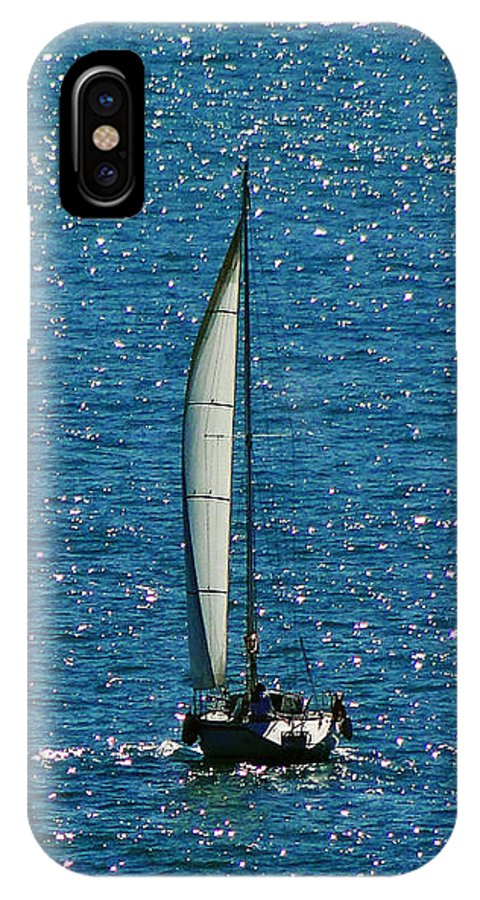 Sailboat IPhone X Case featuring the photograph Sailing Solo by Sue Melvin