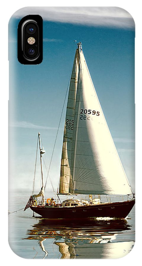 Watch IPhone X Case featuring the photograph Sailing Through The Watch Hill Pass. by Gary Nelson