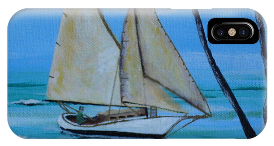 Sailboat IPhone Case featuring the painting Sailor's Dream by Susan Kubes