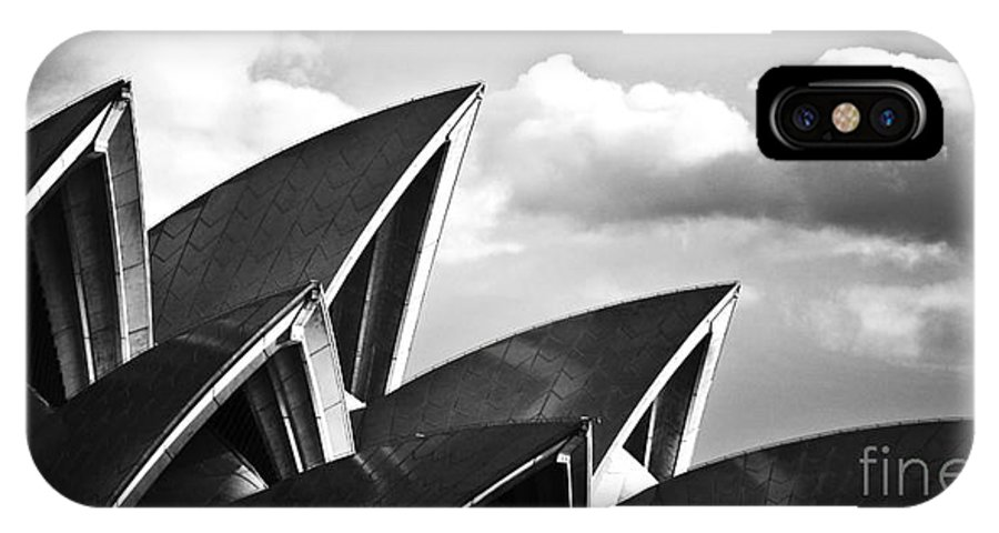 Sydney Opera House Monochrome Black And White Icon IPhone X Case featuring the photograph Sails Of Sydney Opera House by Sheila Smart Fine Art Photography