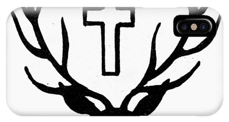 Antler IPhone X Case featuring the photograph Saint Huberts Stag by Granger