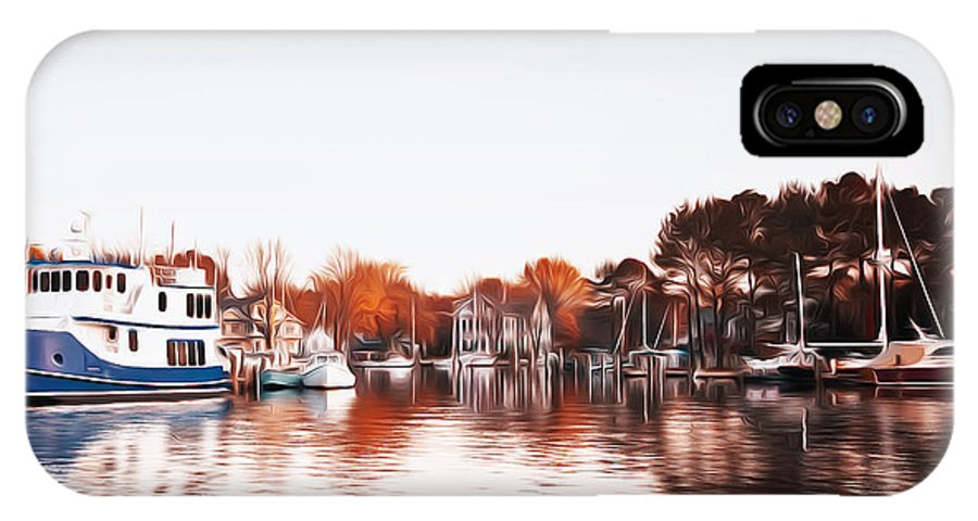 Saint Michael's Harbor IPhone X / XS Case featuring the photograph Saint Michael's Harbor by Bill Cannon